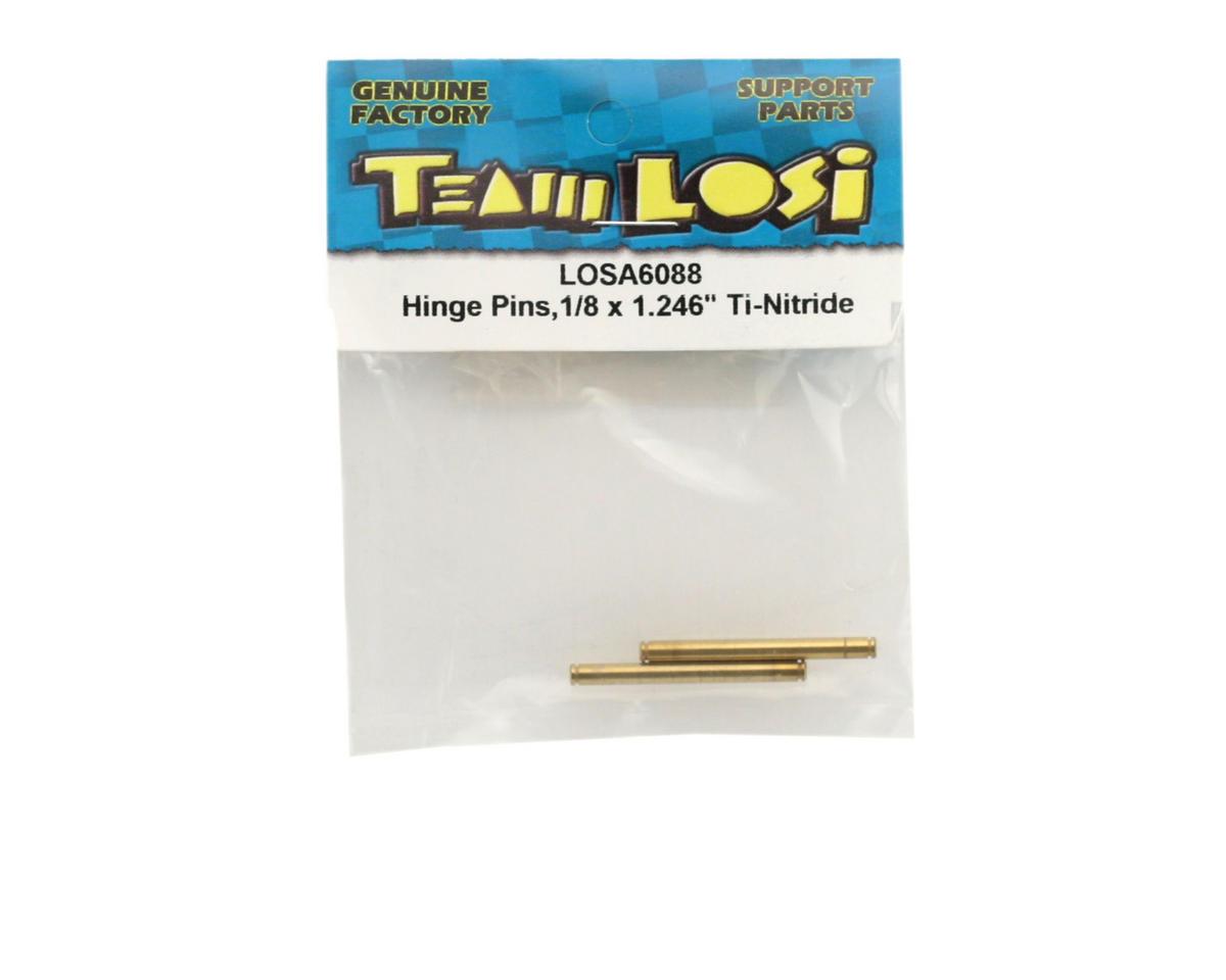 """Losi Ti-Nitride Hinge Pins,1/8 x 1.246"""""""
