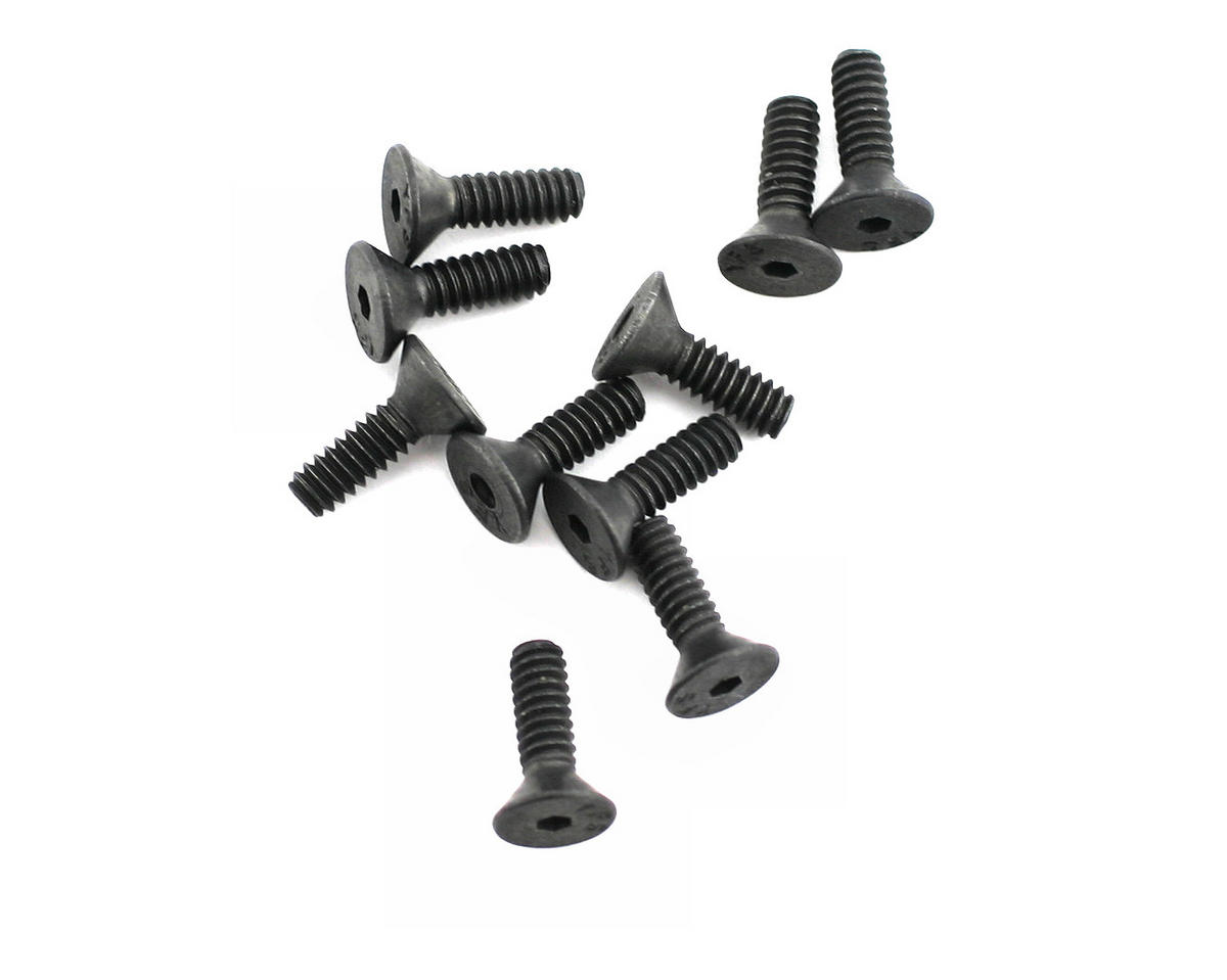 "Losi XXX-T 4-40x3/8"" Flat Head Screw (10)"