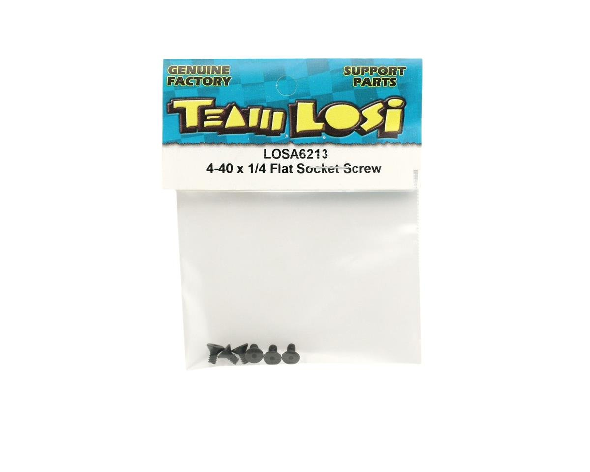 "Losi 4-40 x 1/4"" Flat Head Socket Screws"