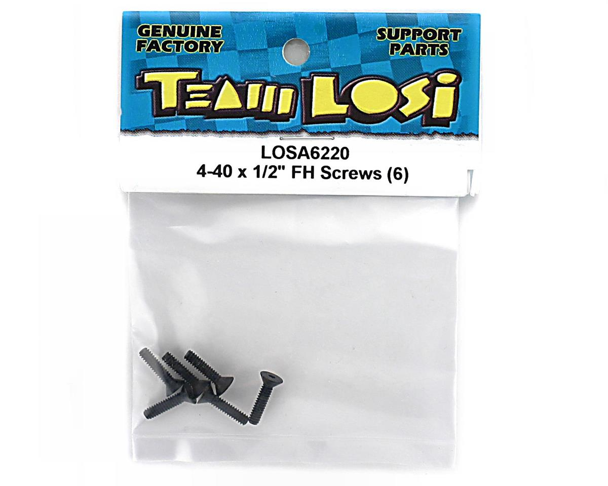 "Image 2 for Losi 4-40 X 1/2"" Flat Head Screw (6)"