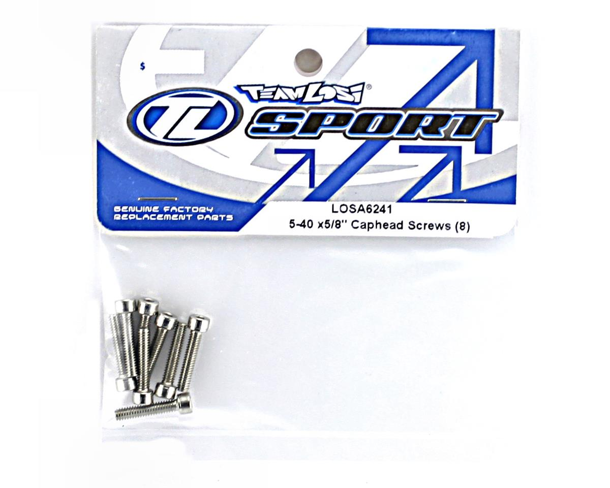 "Losi 5-40x5/8"" Caphead Screws (8)"