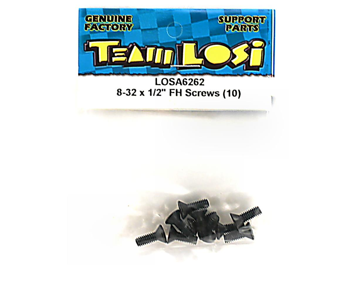"Losi 8-32x1/2"" Flat Head Screws (10)"