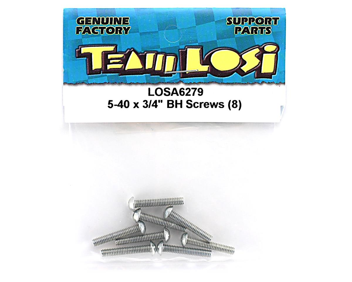 "Losi 5-40x3/4"" Button Head Screws (8)"