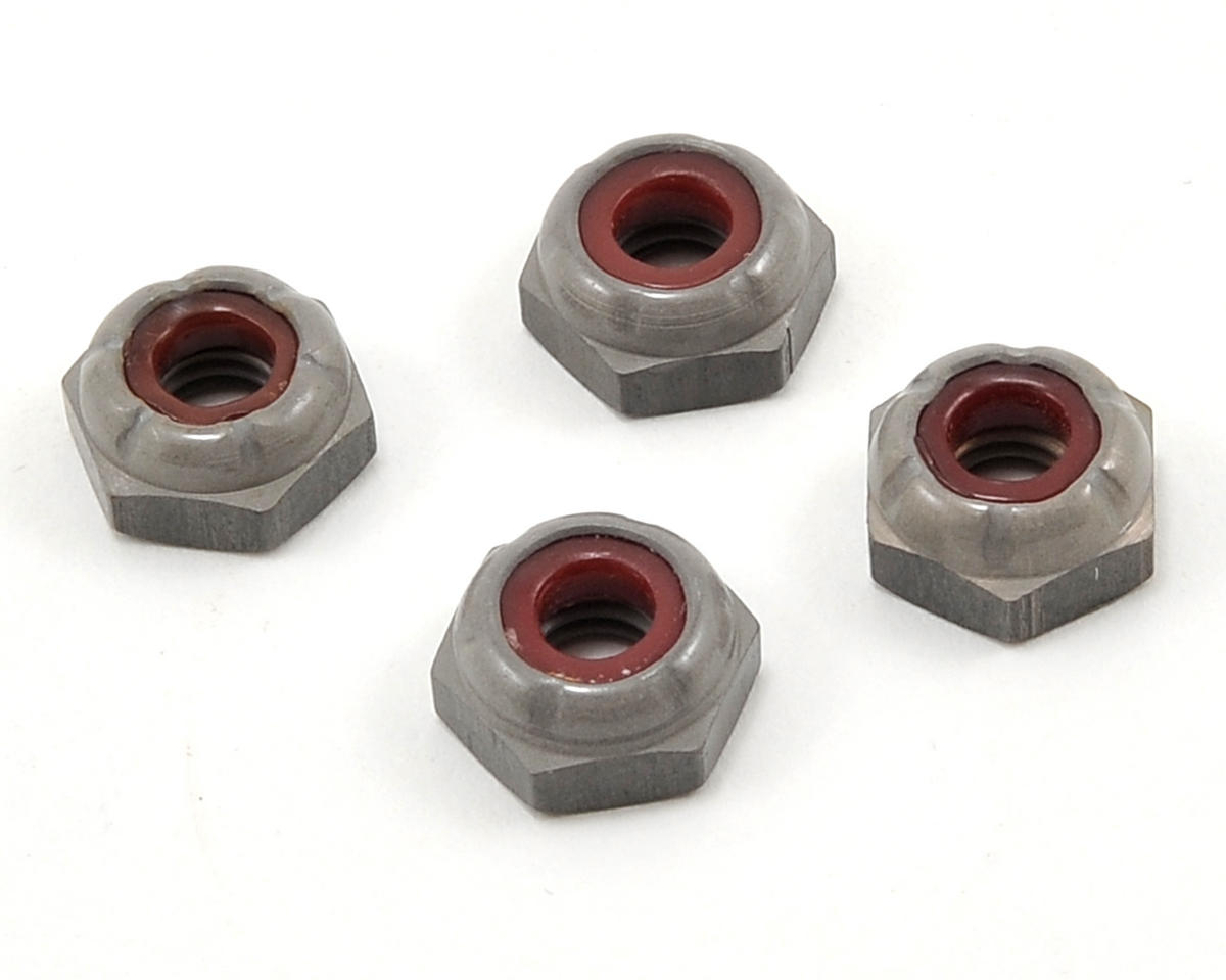 Losi Aluminum 10-32 Low Profile Locknut (4)