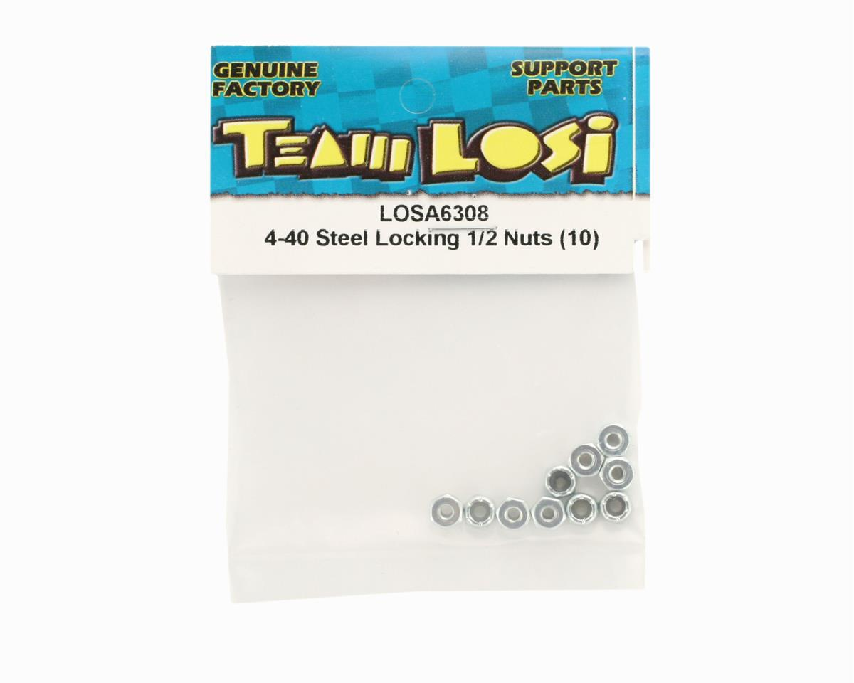 Losi 4-40 Steel Locking 1/2 Nuts (10)