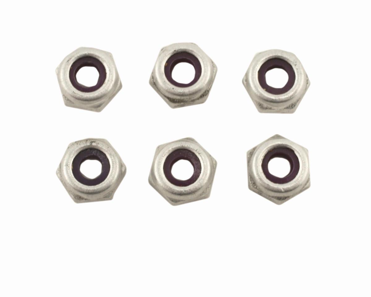 Losi 8-32 Locknut, Aluminum (6)