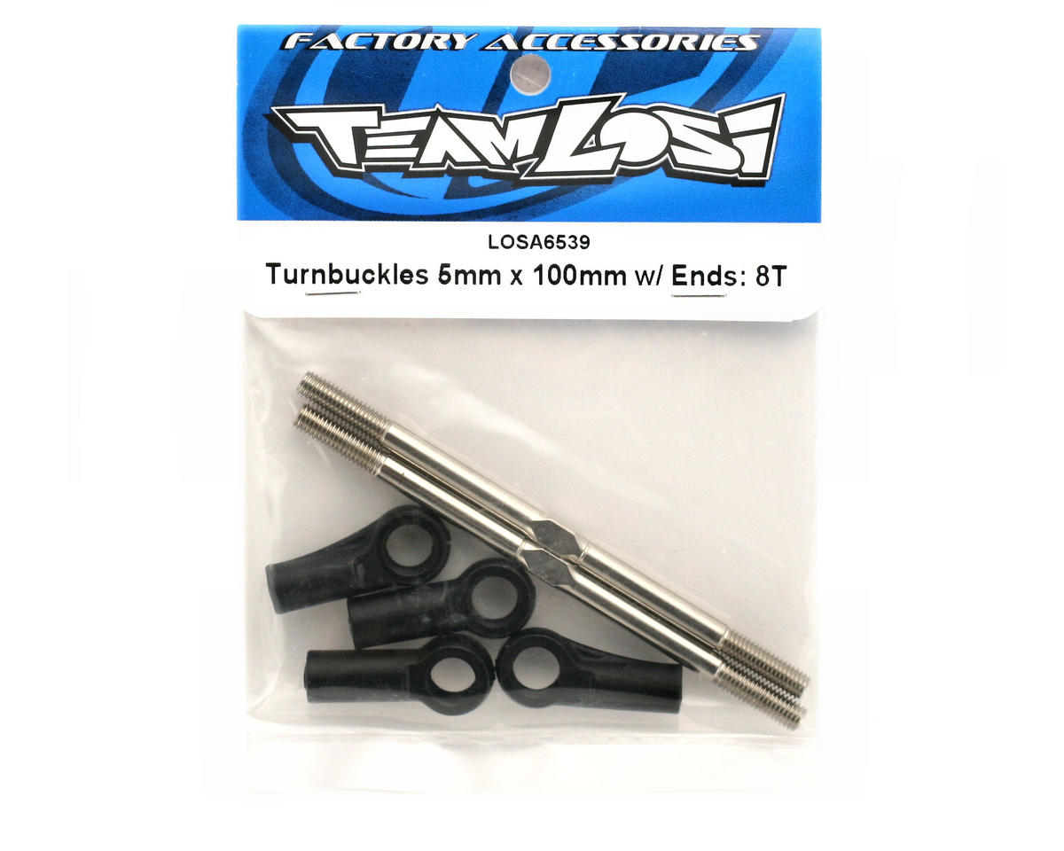 Losi Turnbuckles 5x100mm w/Ends :8T