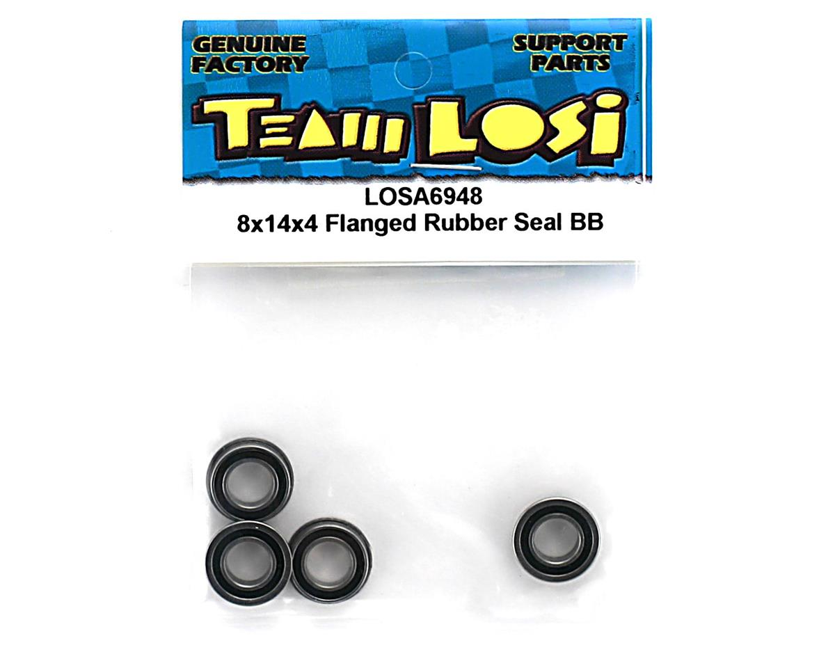 8x14x4mm Flanged Rubber Sealed Ball Bearing by Losi