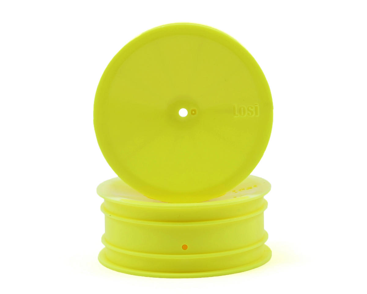 Losi Wide Front Wheels (Yellow) (2)