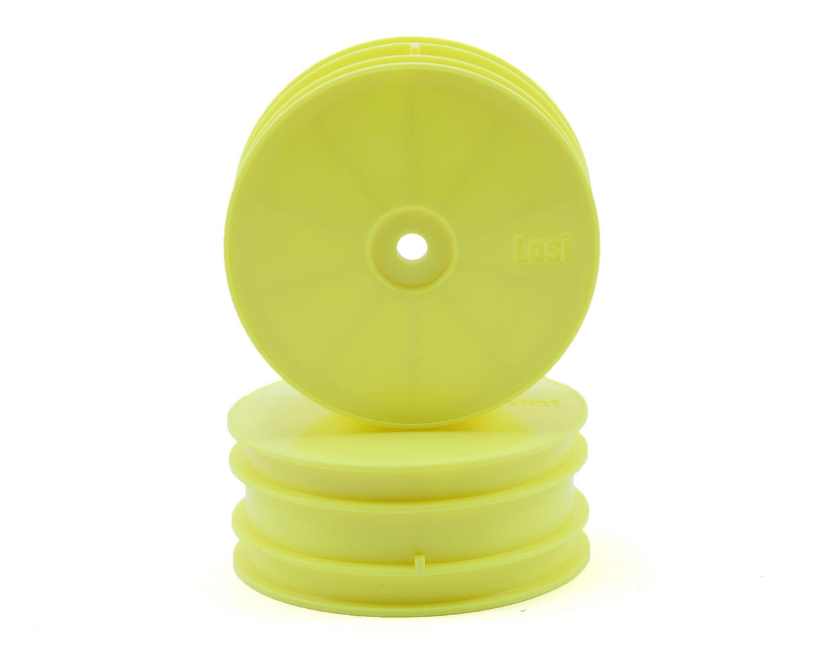 Losi Solid Front Wheels (Yellow) (2)
