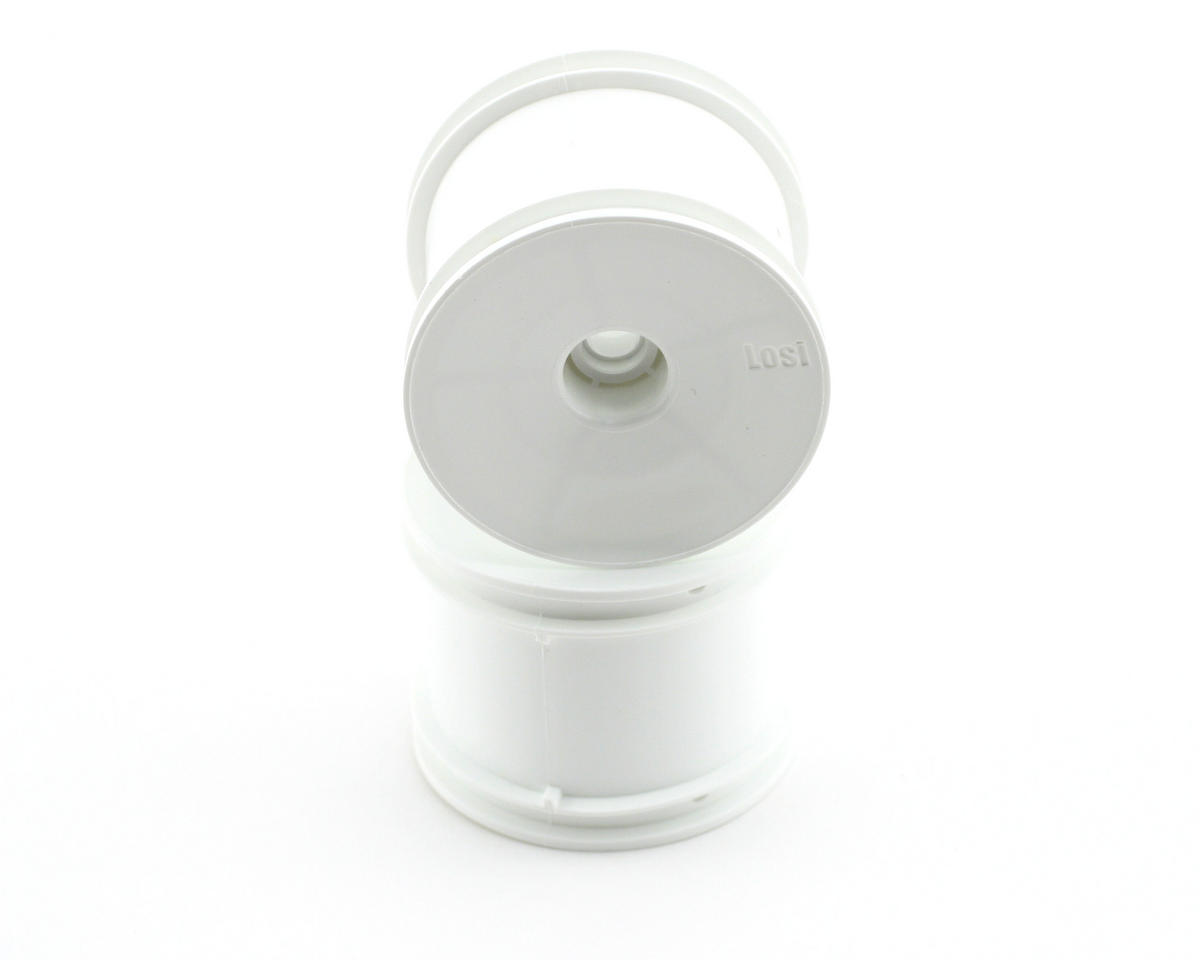 Losi Front Truck Wheels (White) (2)