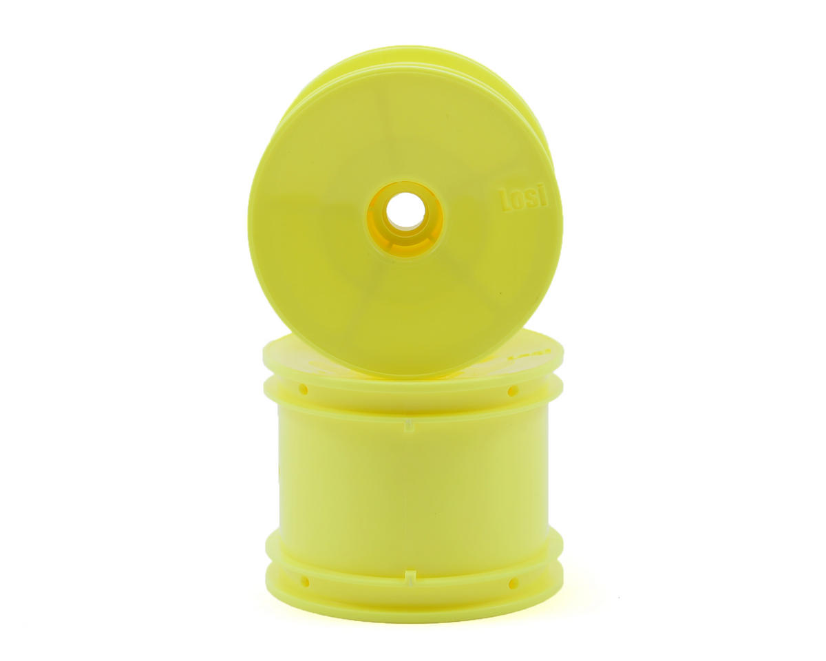 Losi Front Truck Wheels (Yellow) (2)