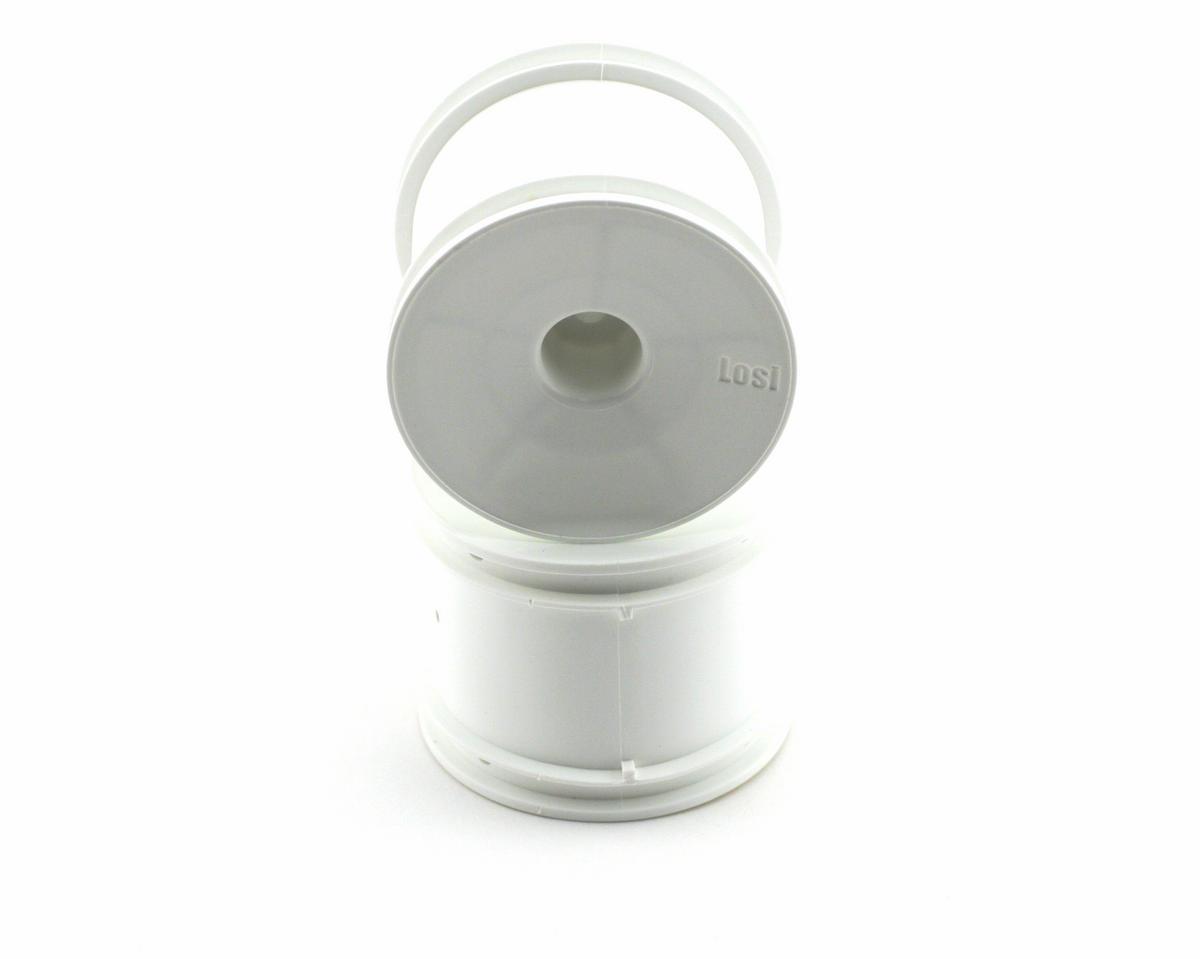 Losi Rear Truck Wheels (White) (2)