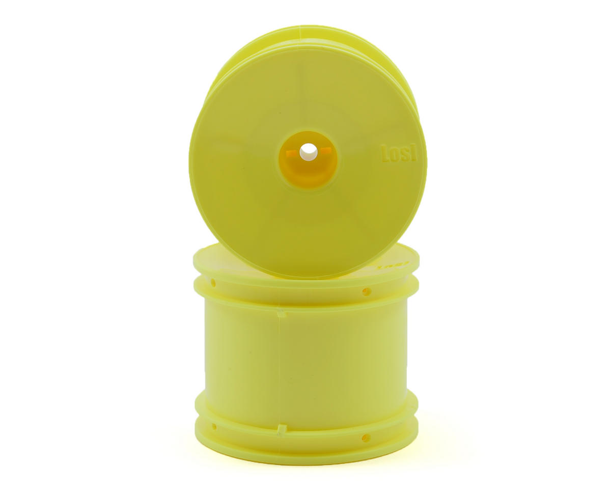 Losi Rear Truck Wheels (Yellow) (2)