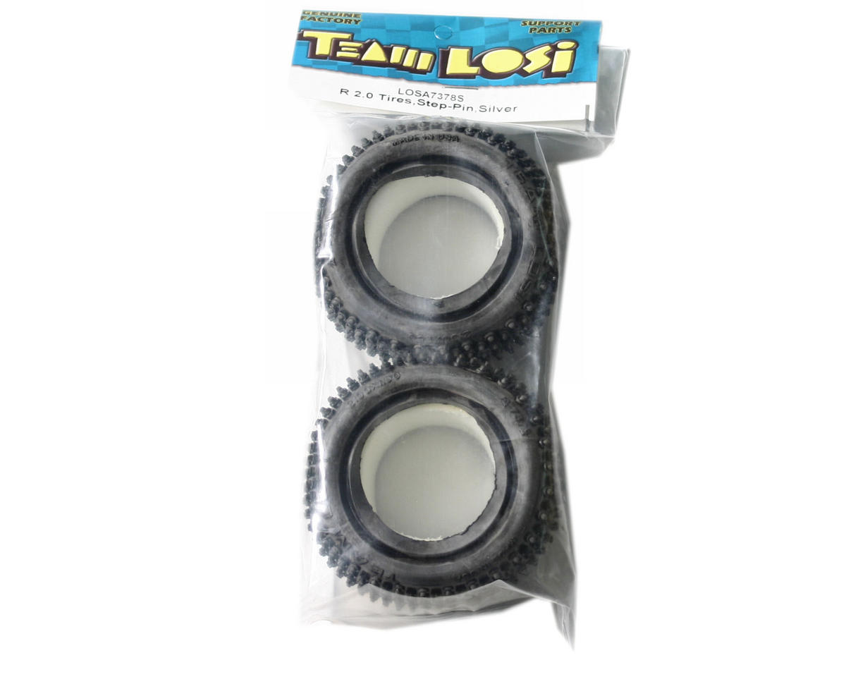 "Losi Step Pin 2.0"" Rear Buggy Tires (Silver) (2)"
