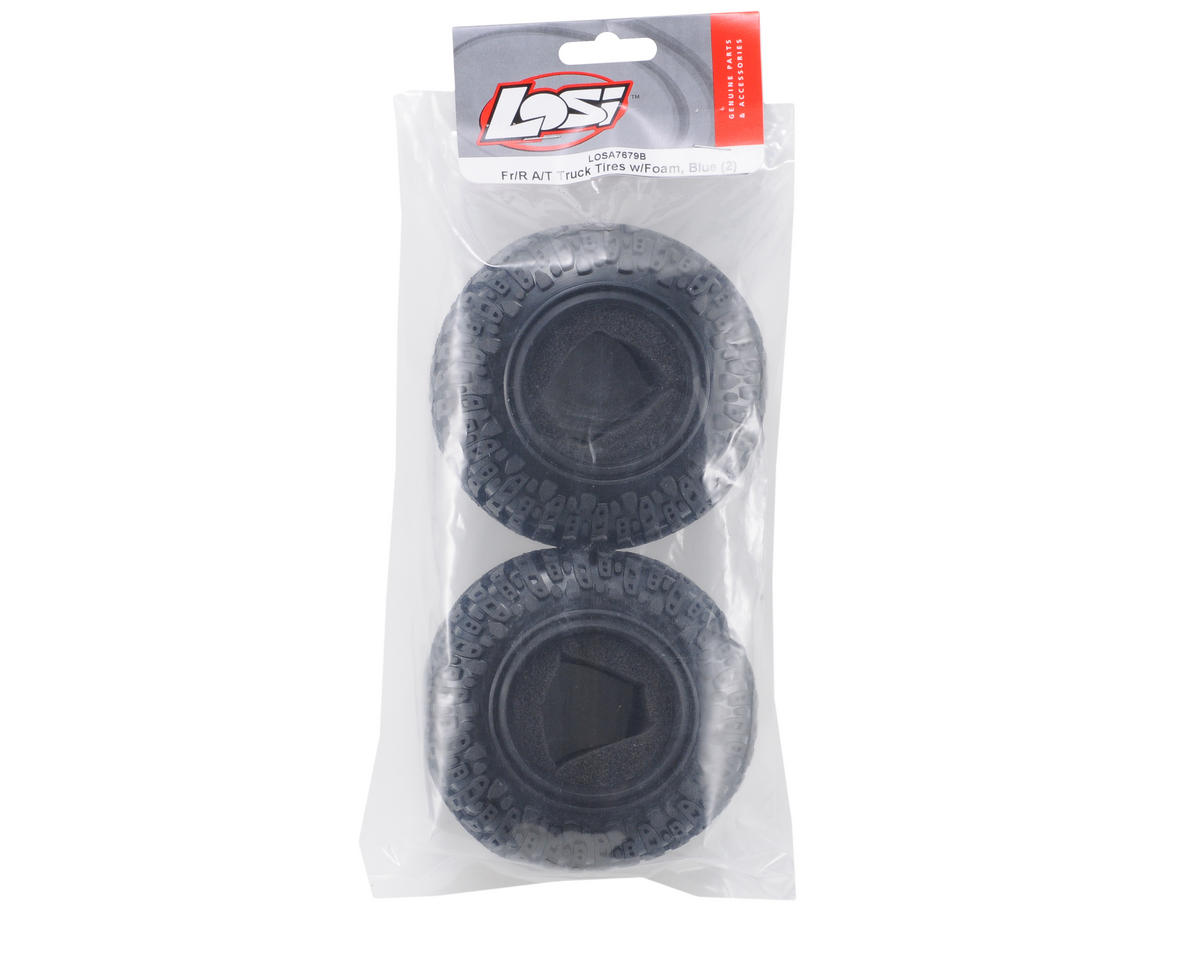 Losi A/T Truck Tires (Blue) (2)