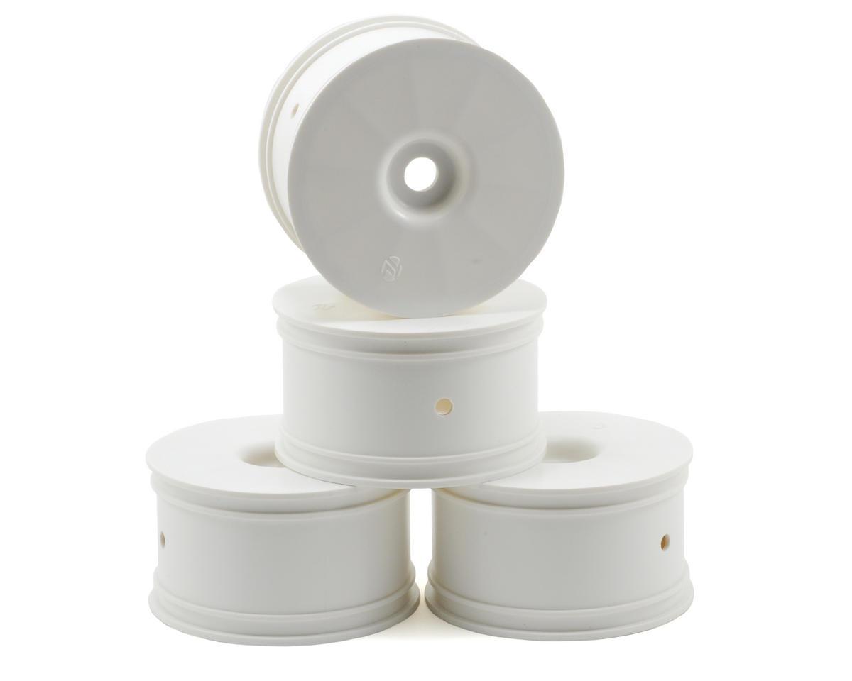 Losi Zero Offset Truggy Wheels (4) (8T 2.0) (White)