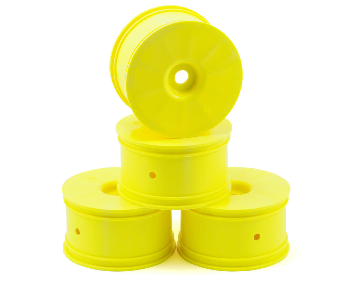 Losi Zero Offset Truggy Wheels (4) (8T 2.0) (Yellow)