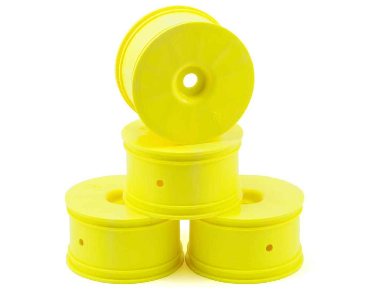 Losi Zero Offset Truggy Wheels (4) (8T 2.0) (Yellow)