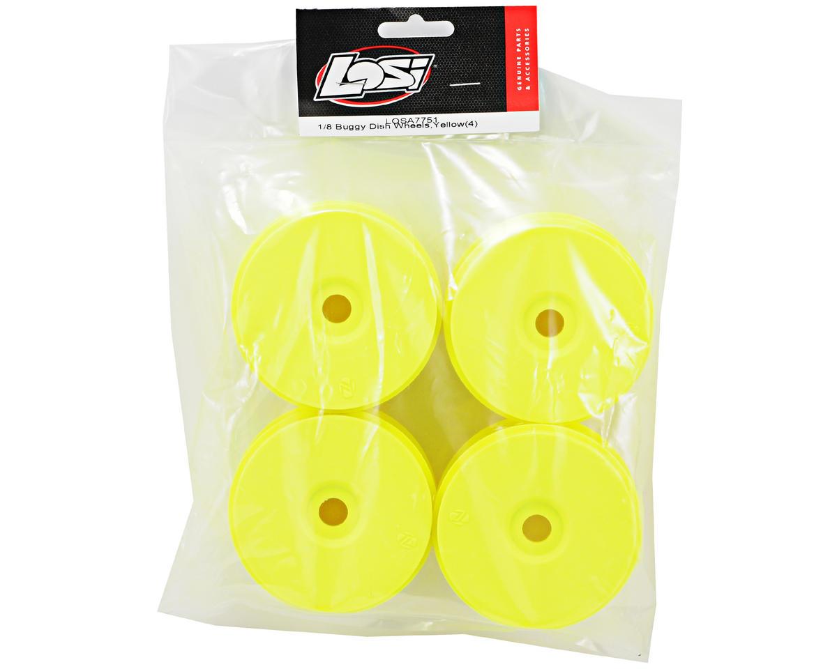 Losi 1/8 Buggy Dish Wheels (4) (Yellow)