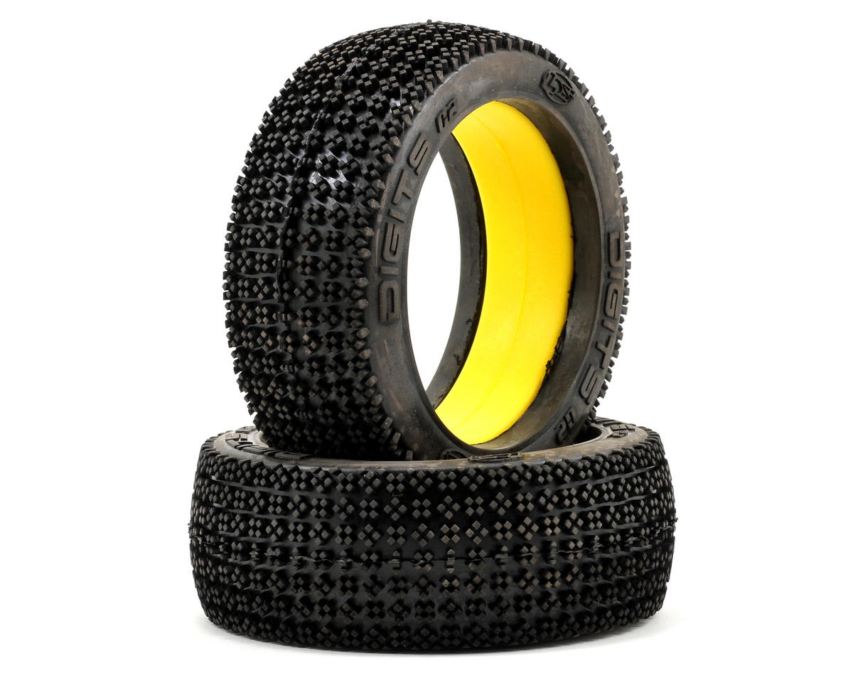 Losi Ultra Digits G2 1/8 Buggy Tires w/Foam (Red) (2)