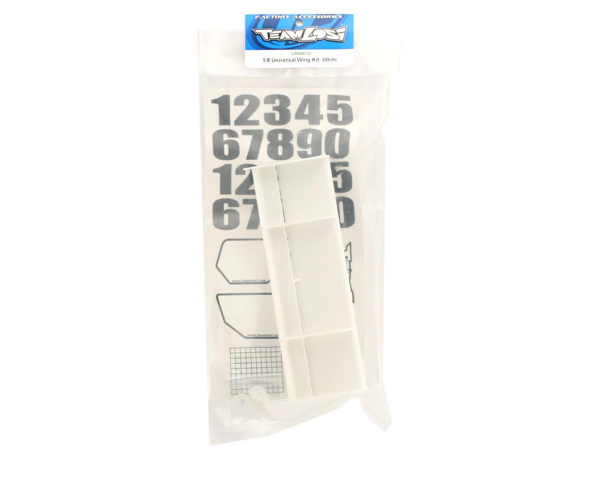 Losi 1/8 Universal Wing Kit (White)