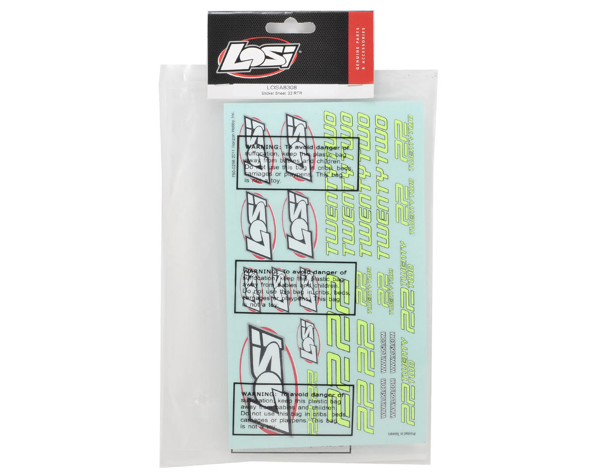 Losi Sticker Sheet (22RTR)