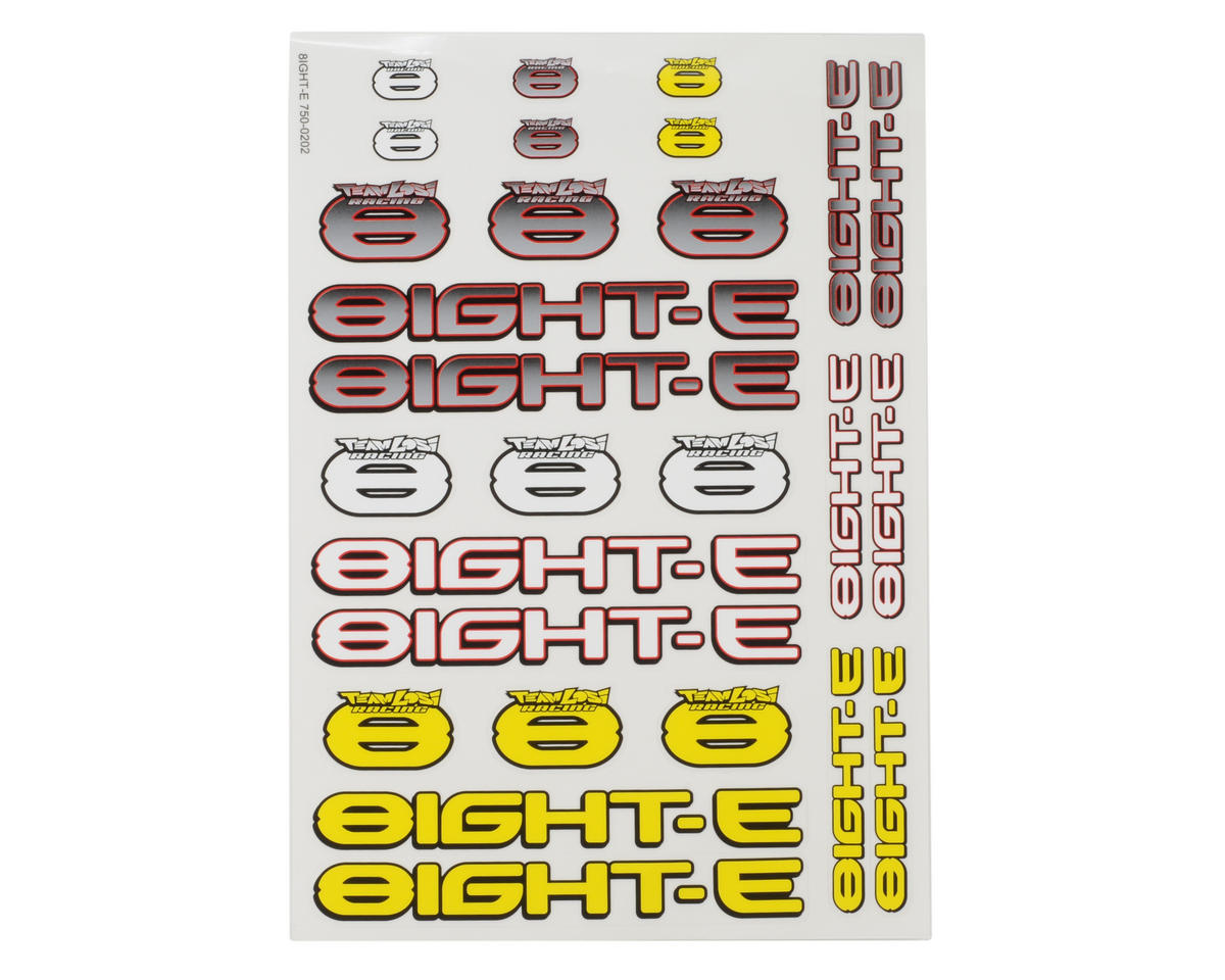 Losi 8IGHT-E Sticker Sheet