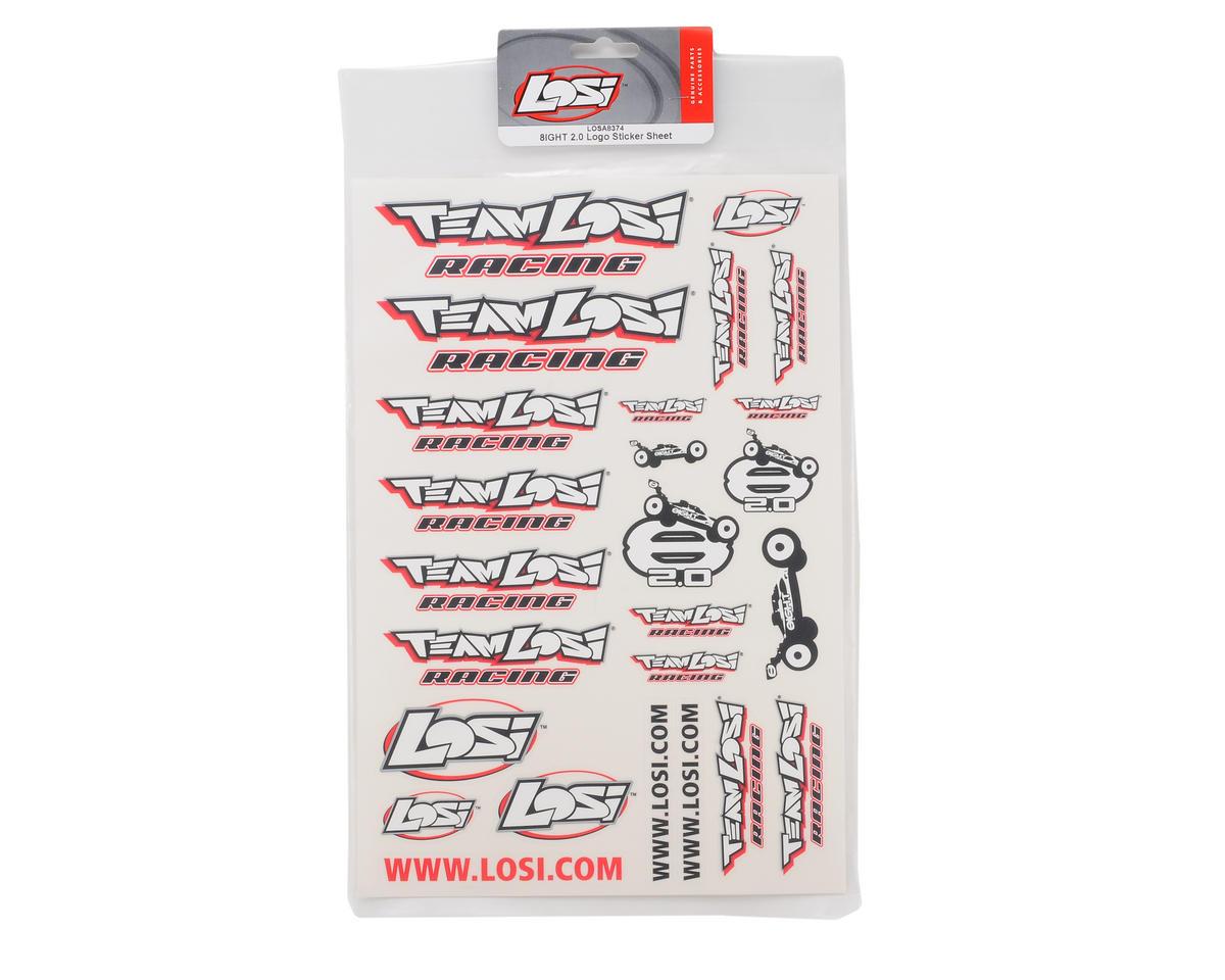 Losi 8IGHT 2.0 Logo Sticker Sheet