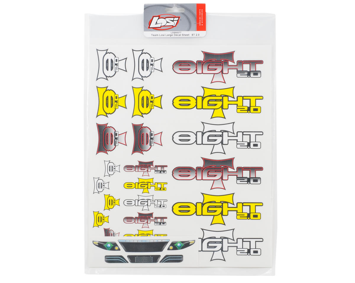 Losi 8IGHT-T 2.0 Large Decal Sheet