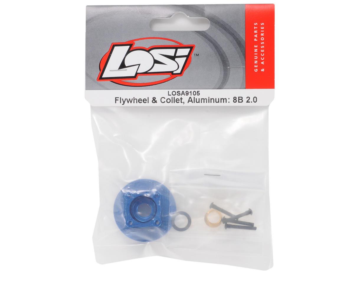 Aluminum 4 Shoe Flywheel & Collet Set (8IGHT) by Losi