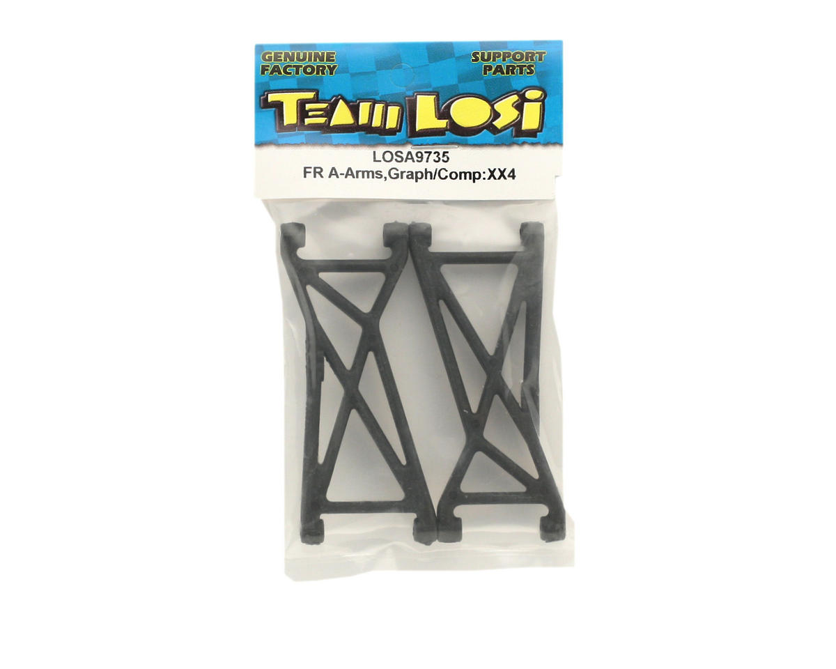 Losi Front A-Arms,Graphite/Composite (XX4)