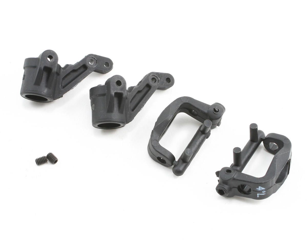 Losi Front Spindles & Carriers 4-Deg, EA3: all X-S