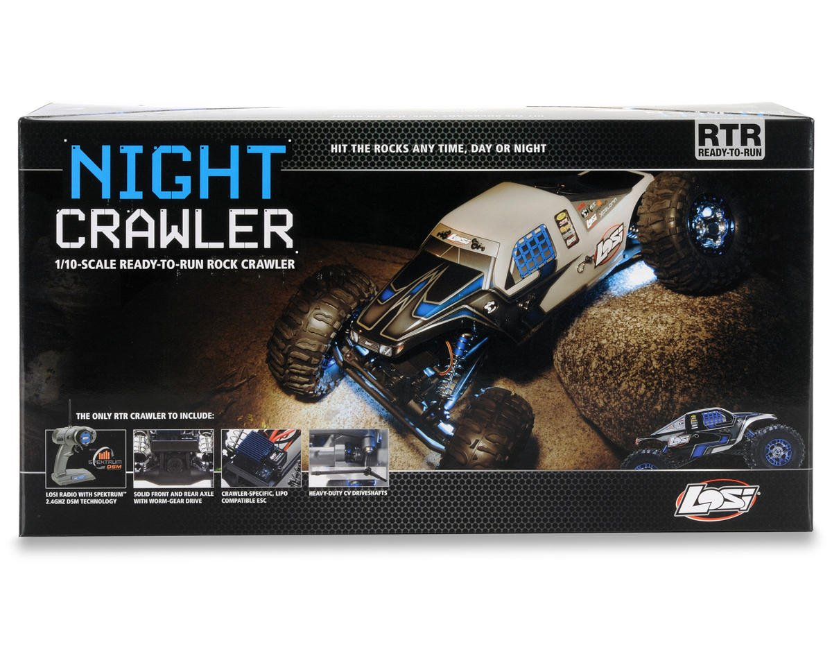Losi 1/10 Night Crawler RTR (Black)