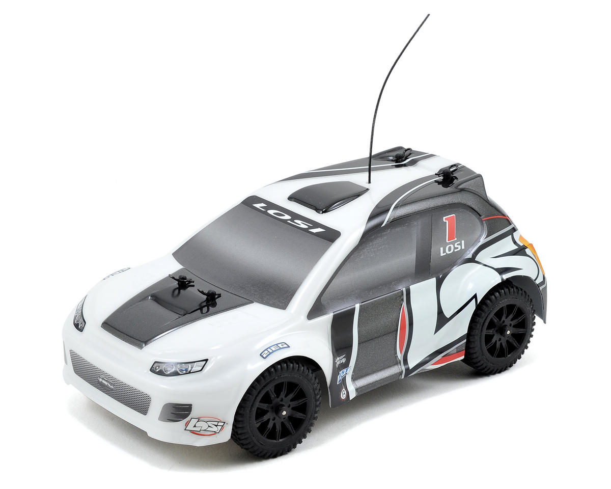 1/24 4WD Rally Car RTR (Grey/White) by Losi
