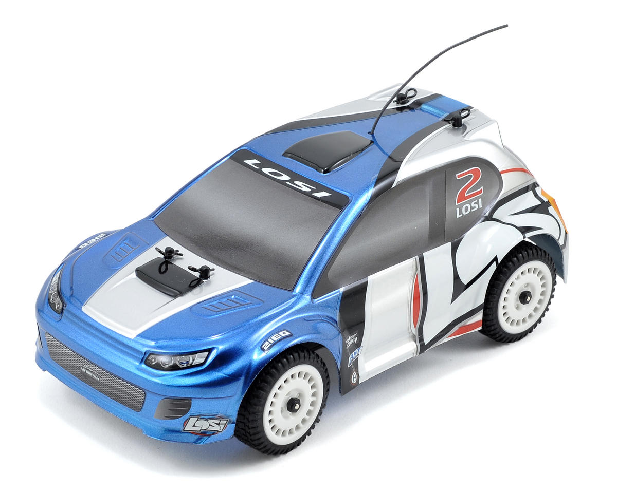 Losi 1/24 Micro 4WD Brushless Rally Car RTR w/2.4GHz Radio System (Blue)