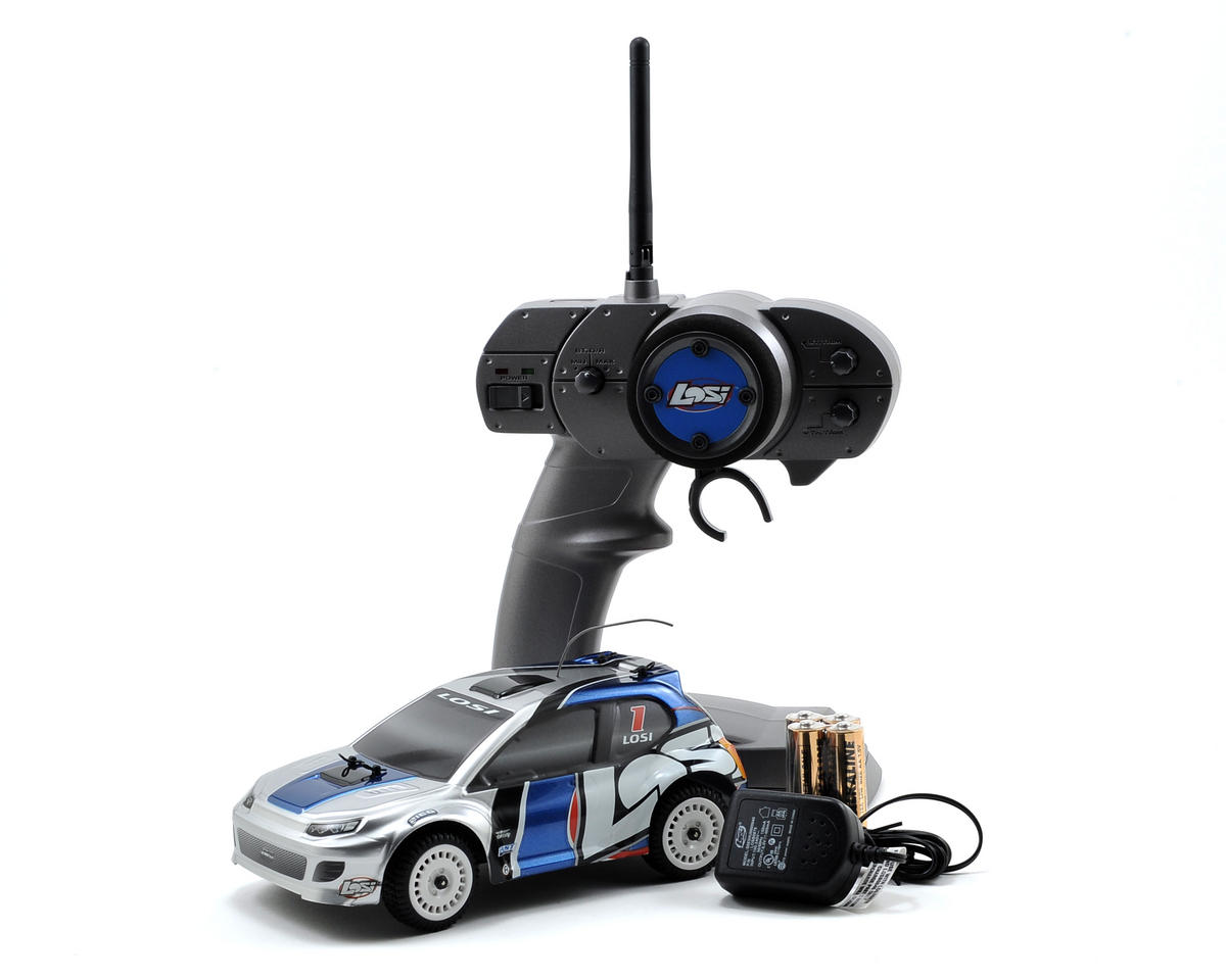 Losi 1/24 Micro 4WD Brushless Rally Car RTR w/2.4GHz Radio System (Silver)