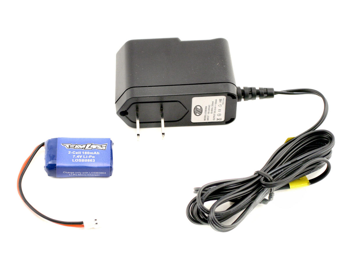 Losi Micro-T LiPo Charger & Battery