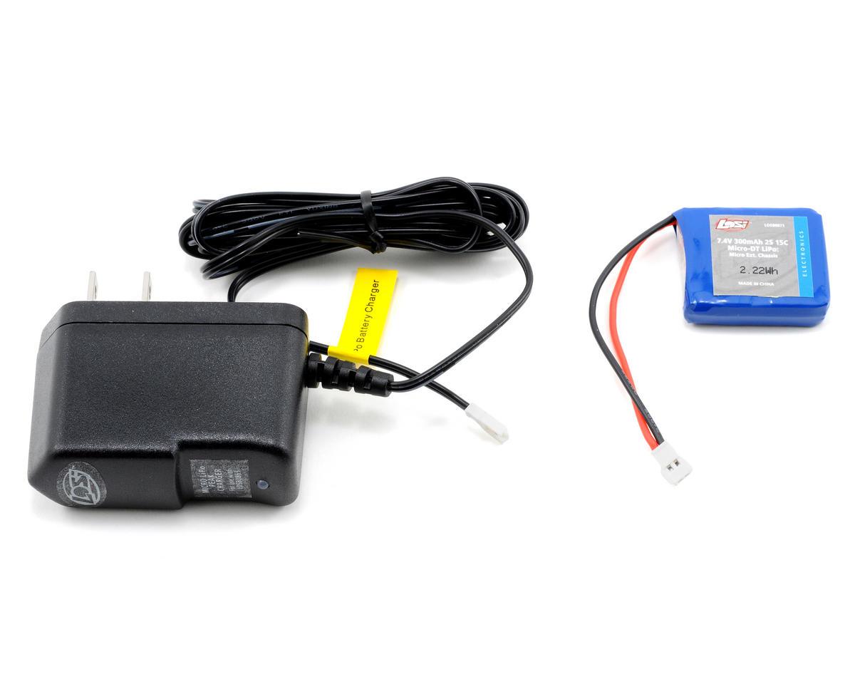 Losi 2S LiPo/Charger Combo (7.4V/300mAh)