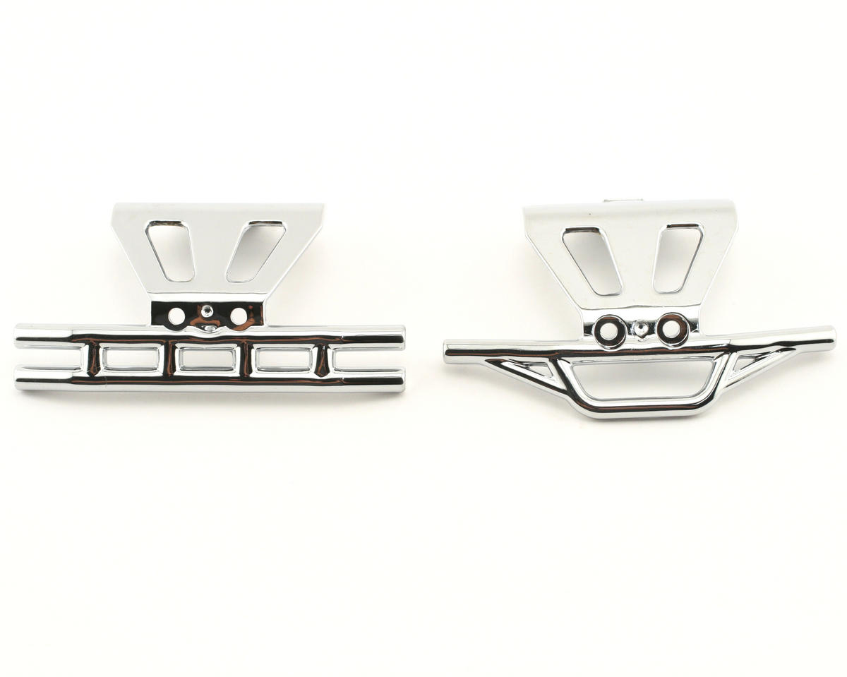 Losi Front/Rear Bumper Set, Chrome (MLST/2)