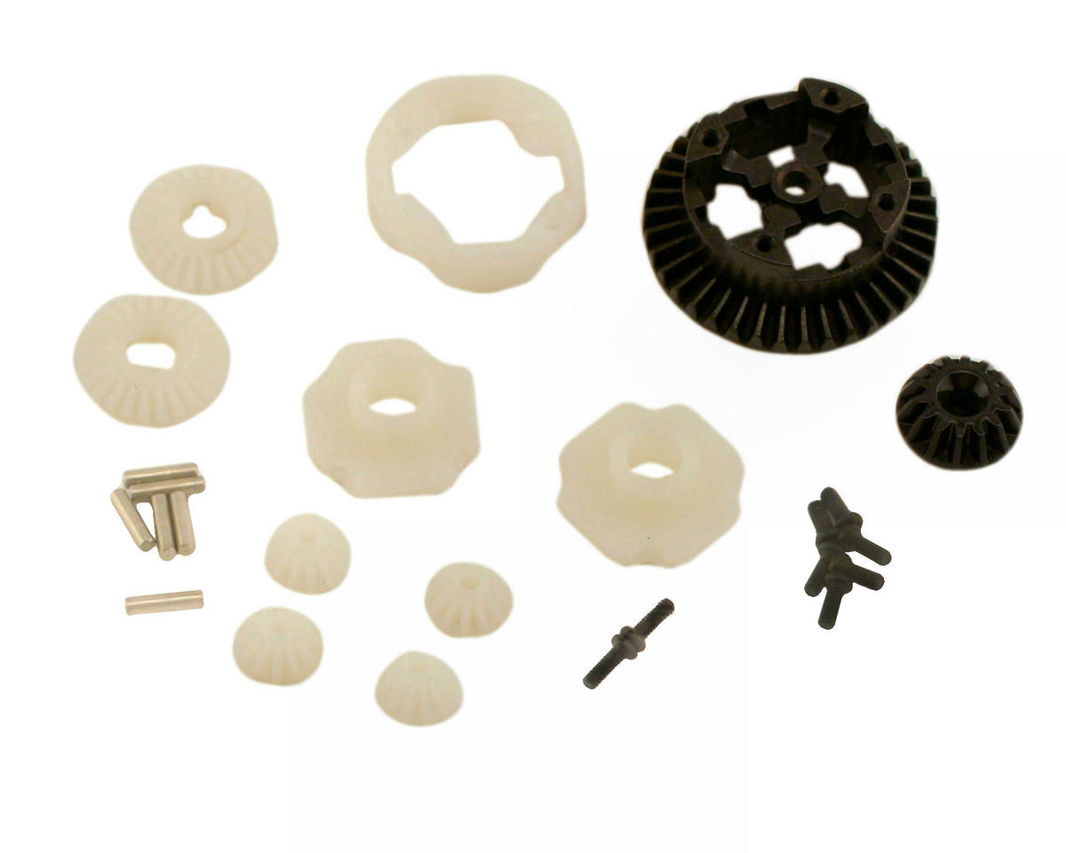 Losi Mini Raminator Front/Rear Metal Differential Gear & Housing Set (MLST/2)