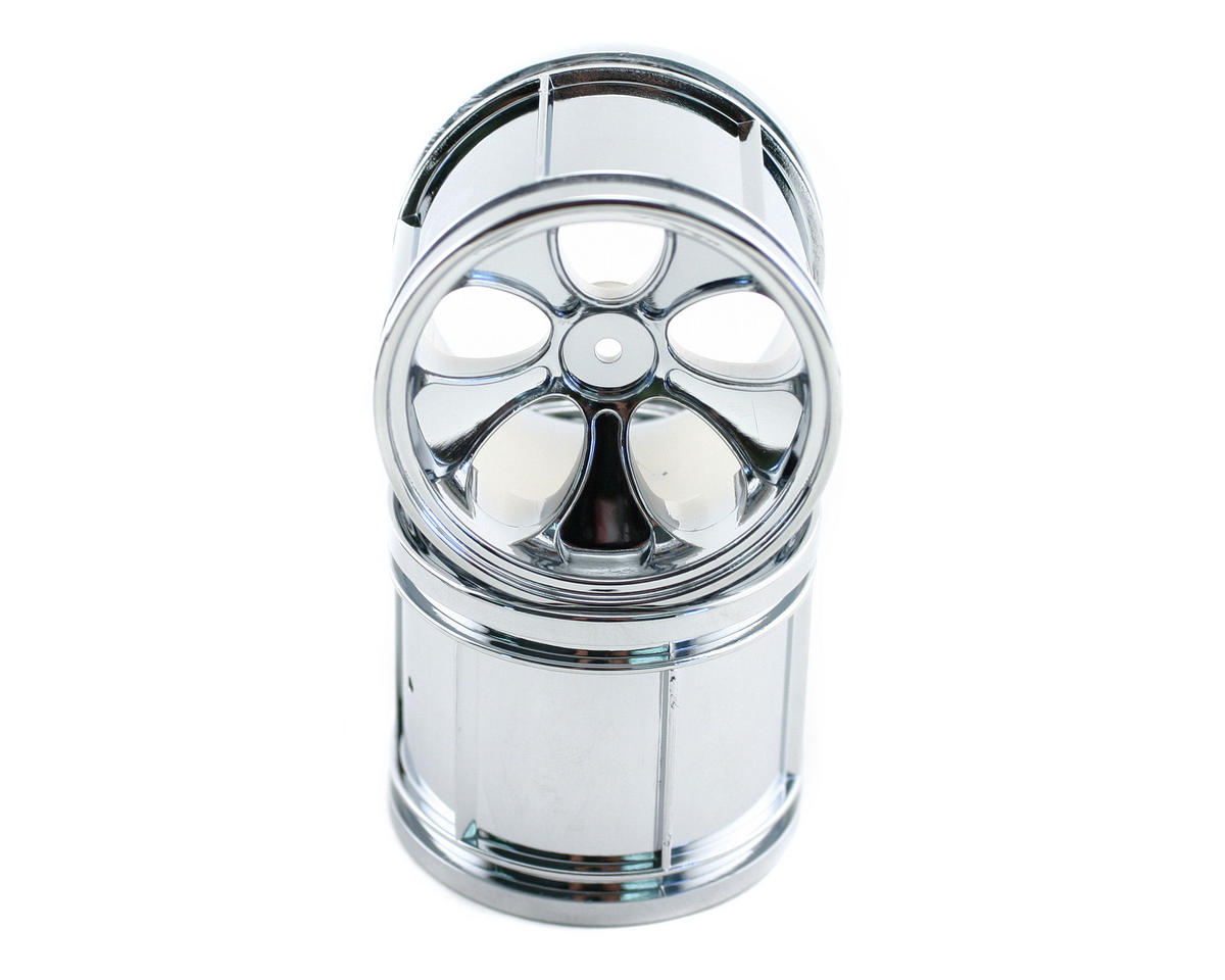 Losi Mini-Magneto Wheel,Chrome(Pr) (Mini-LST)