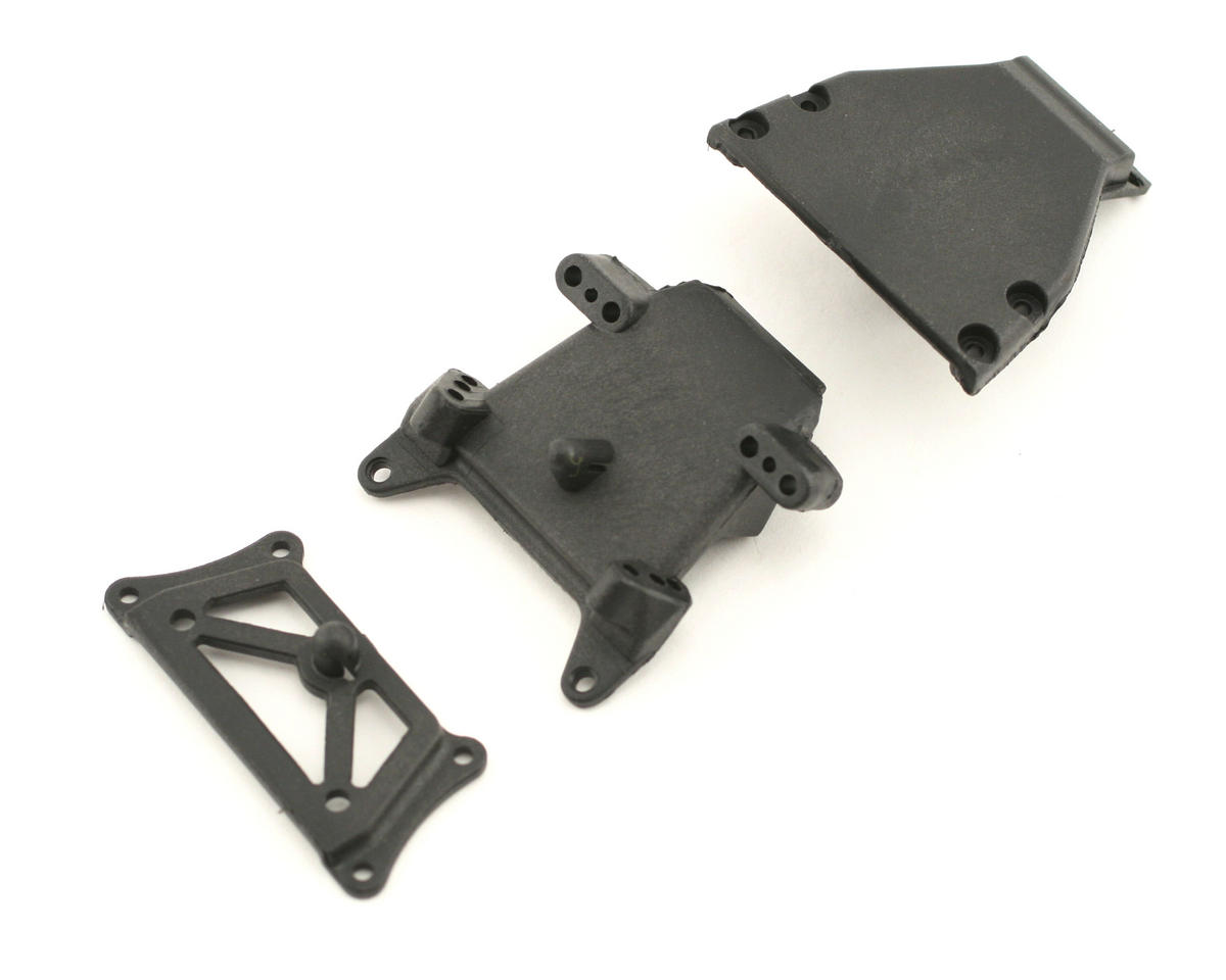 Losi Mini-SCT Front Bulkhead/Kickplate/Brace Set (Mini-T)