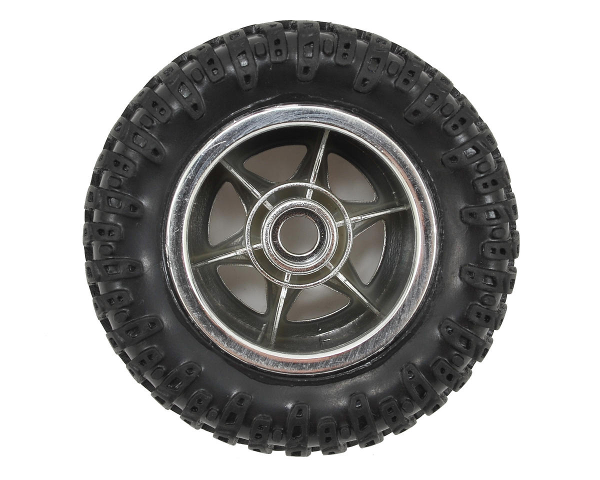 Losi Mini Desert Truck Pre-Mounted Front Tire (Chrome) (2)