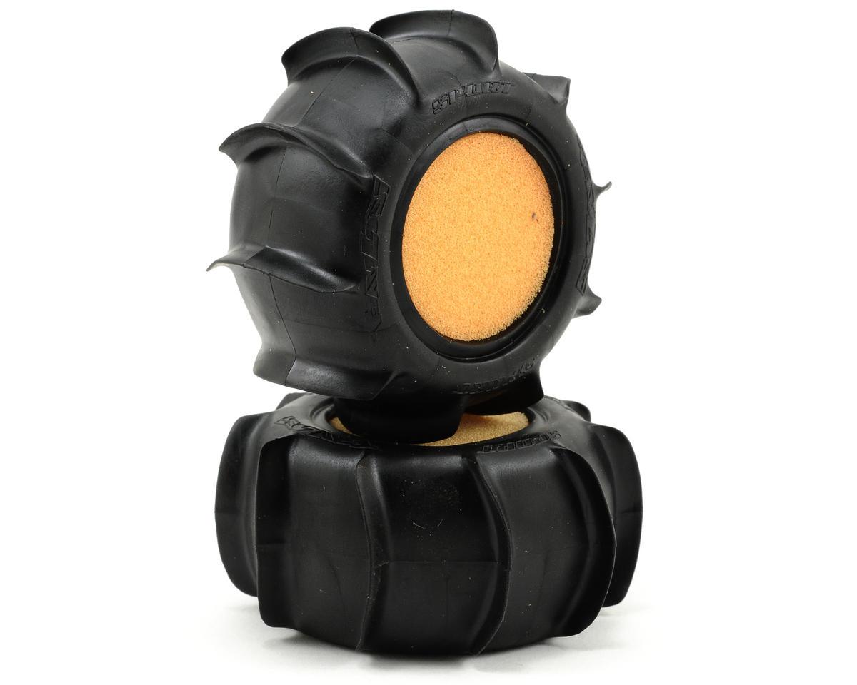 Losi Sand Paddle Rear Tire Set w/Foam (2) (Mini-T)