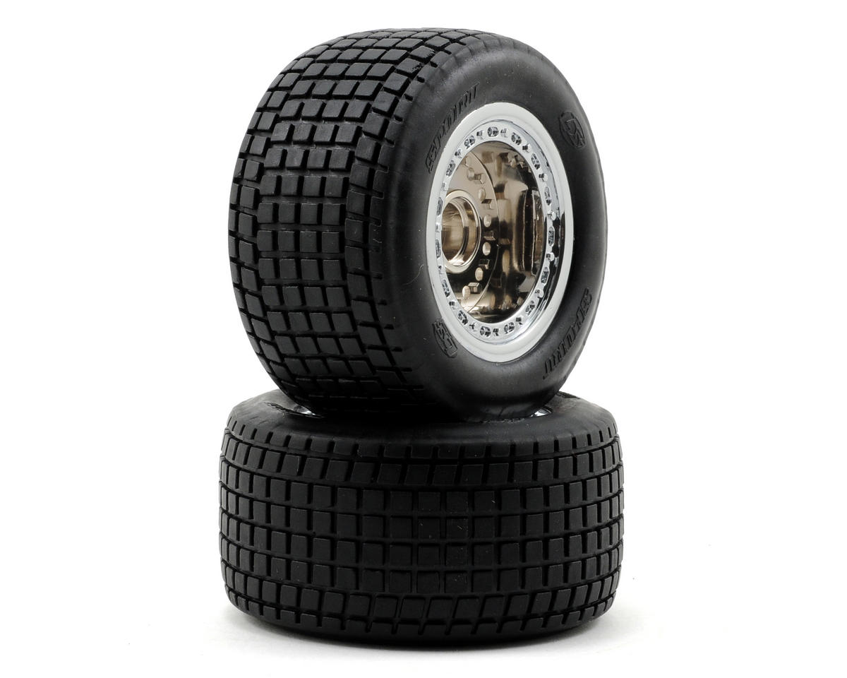 Losi Mounted Mini Front Tires (2) (Mini-Late Model)