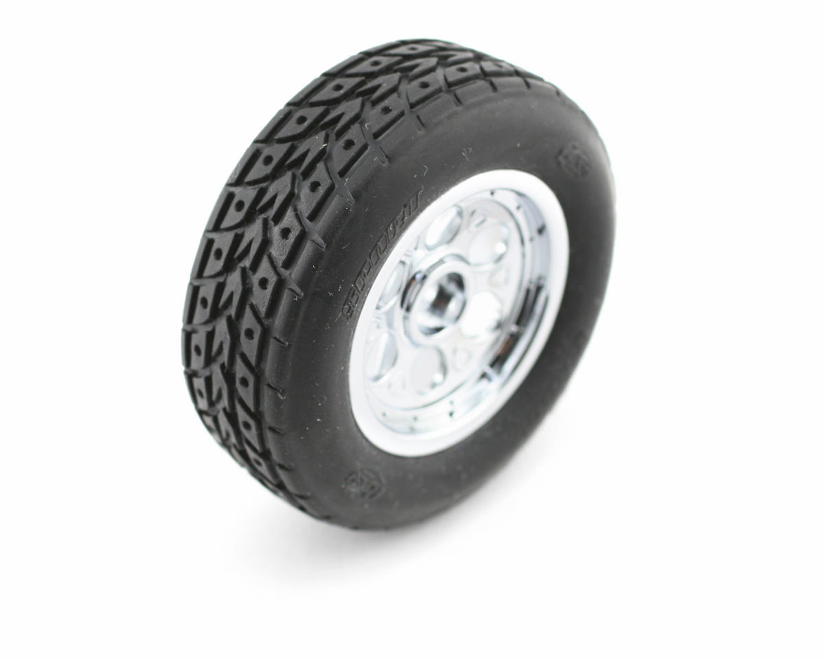 Losi Pre-Mounted Street Meat Front Tires w/Chrome Wheels (2)