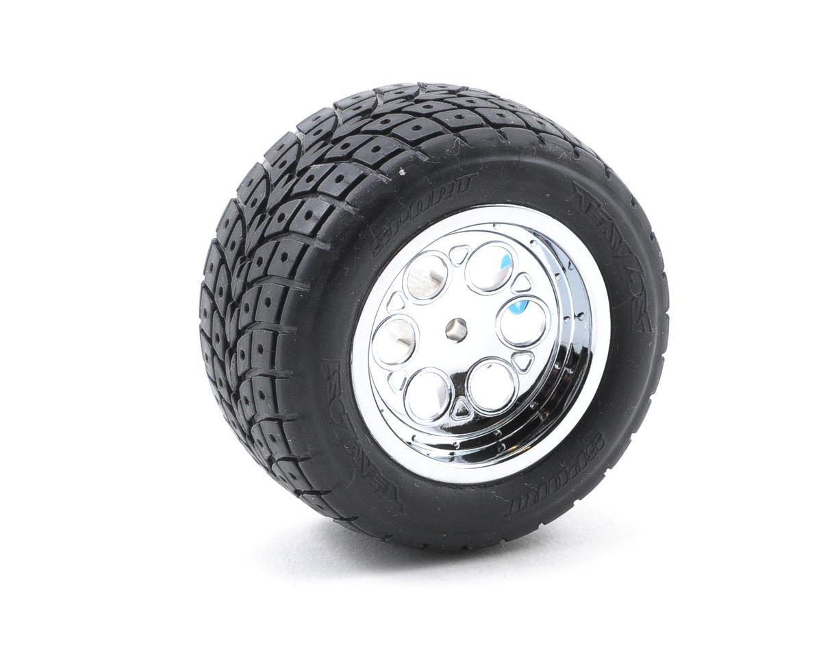 Losi Pre-Mounted Street Meat Rear Tires w/Chrome Wheels (2) (Hard)
