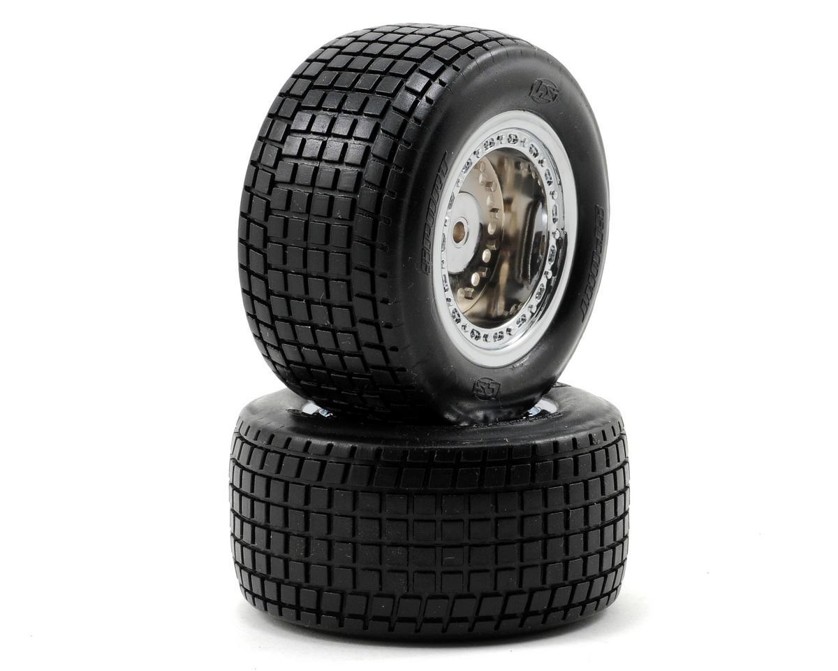Losi Mounted Mini Rear Tires (2) (Mini-Late Model)