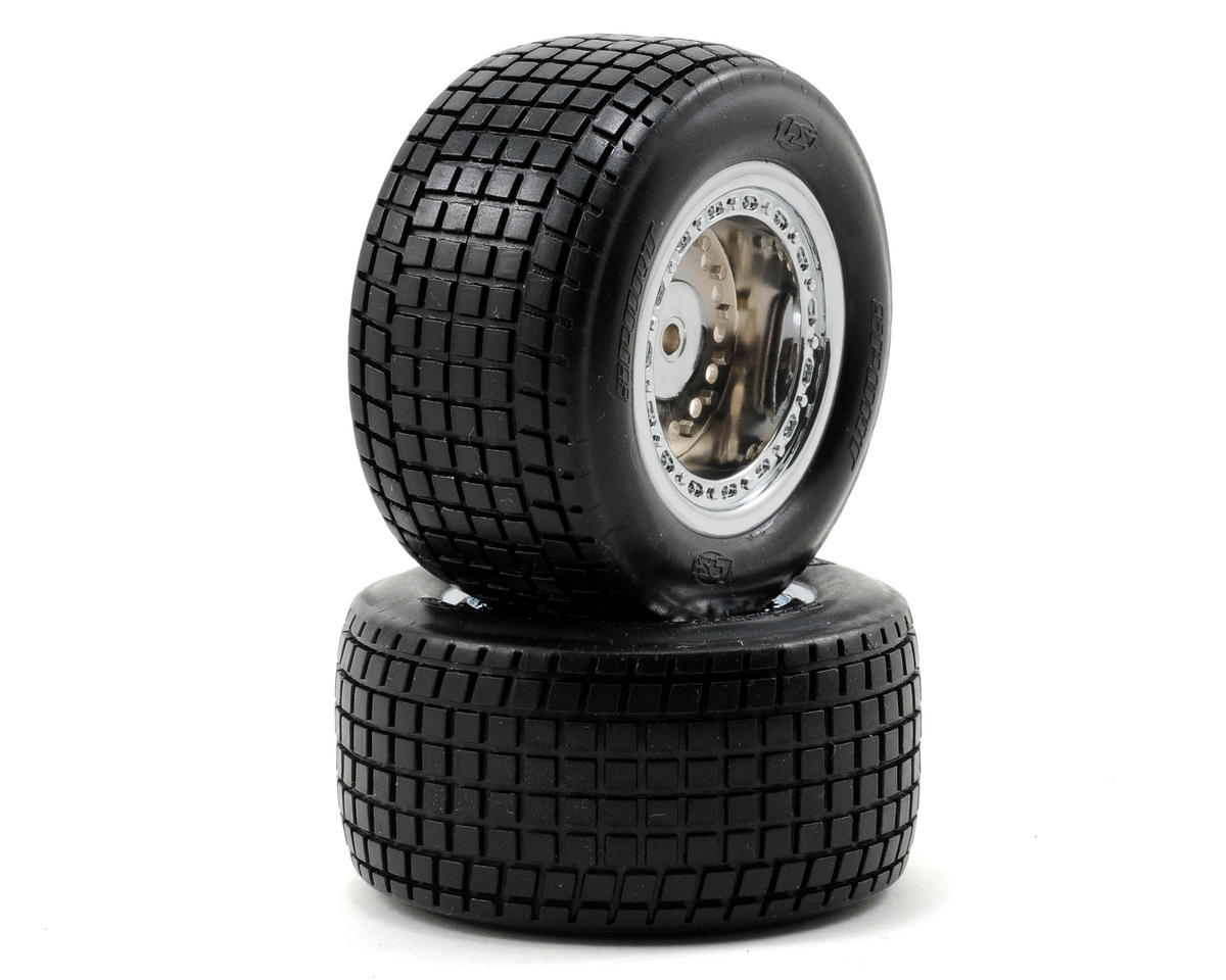 Losi Mounted Mini Rear Tires (2) (Mini-Late Model)